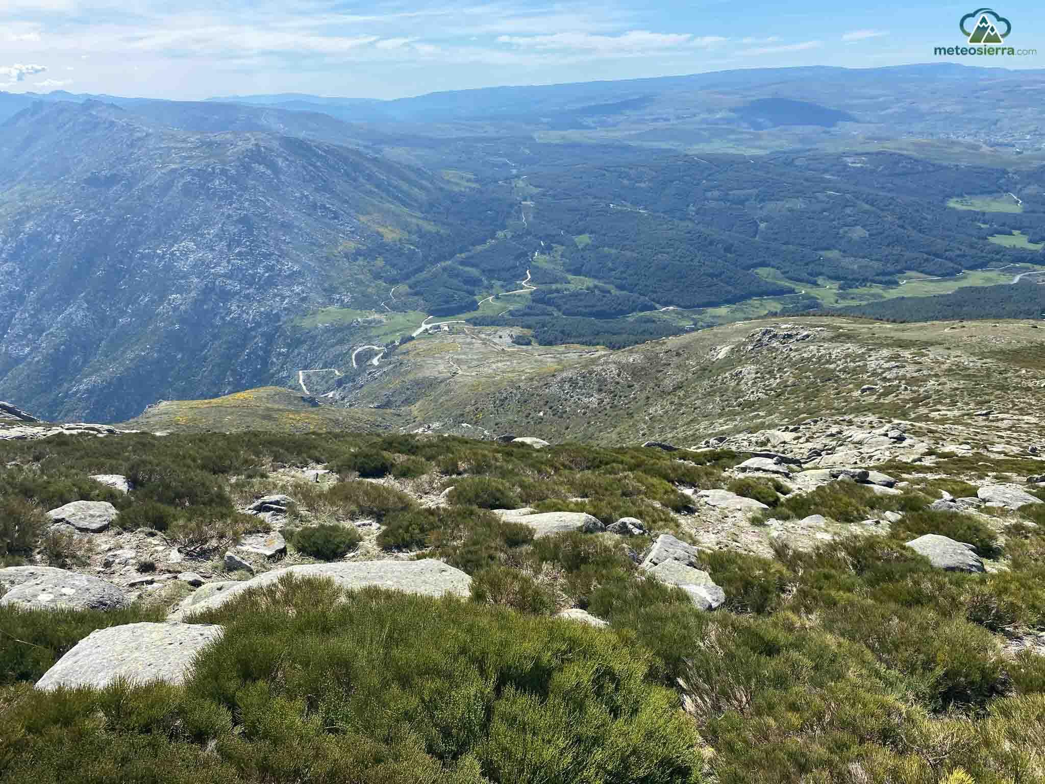 Puerto del Pico y extensa zona de pinar